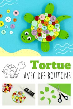 Tortoise with buttons – children's actions Kinds Of Salad, Babysitting, Baby Shower, Tortoise, Crafts For Kids, Daycare Crafts, About Me Blog, Science Crafts, Basel