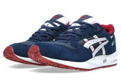 Asics Gel Saga - Navy - Red - White - Available - SneakerNews.com