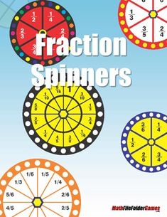 Fraction Spinners: Use with any Fraction Game or Activity! {FREE}