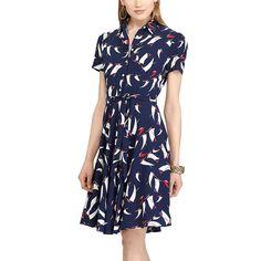 Petite Chaps Sailboat Print Shirtdress, Women's, Size: Xl Petite, Pink Ovrfl
