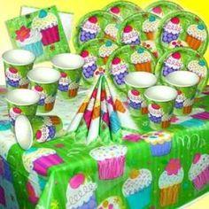 RZOnlinehandel - Partyset Cup Cakes für bis zu 8 Kinder - 29-teilig Party Set, Cupcakes, Birthday Cake, Desserts, Food, Birth, Kids, Tailgate Desserts, Cupcake Cakes