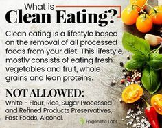 """Friends, clean eating will change your life! We know that many of you already eat clean so you can attest to that. What is clean eating really? It is a lifestyle based on the removal of all processed foods from your diet. This lifestyle mostly consists of eating fresh vegetables & fruits, whole grains & lean proteins. And, it is important to be taking out the """"cellular trash"""" on a regular & daily basis. Check out this article by Landee Martin to learn more about detoxification."""