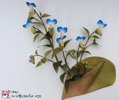 조화공예(아트플라워) 닭의 장풀  Dayflower of Art Flowers Crafted http://blog.naver.com/koreapaperart  #조화공예 #종이꽃 #페이퍼플라워 #한지꽃 #아트플라워 #조화 #조화인테리어 #인테리어조화 #인테리어소품 #에바폼 #디퓨저 #주문제작 #수강문의 #광고소품 #촬영소품 #디스플레이 #artflower #koreanpaperart #hanjiflower #paperflowers #craft #paperart #handmade #닭의장풀 #dayflower