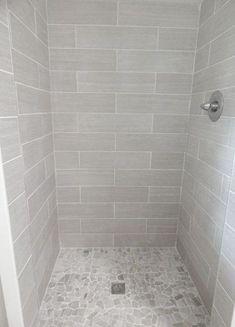 43 Ideas bath room shower remodel ideas walk in pebble floor Bath Tiles, Bathroom Floor Tiles, Room Tiles, Shower Tiles, Tile Showers, Kitchen Tiles, Bathroom Grey, Shower Bathroom, Floor Grout