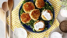 Healthy comfort food at its finest—crispy salmon & crab cakes with a creamy yogurt dipping sauce 🐟🦀 So tasty & so simple. Tap the link in… Healthy Family Dinners, Easy Weeknight Dinners, Salmon Cakes, Crab Cakes, Crab Cake Poppers, Surimi Recipes, Crab Cake Recipes, Healthy Comfort Food, Healthy Food