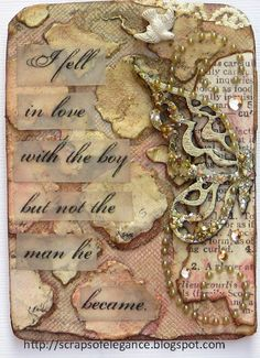 """""""Vintage Findings"""" for Word Challege at Our Creative Corner - Scrapbook.com"""