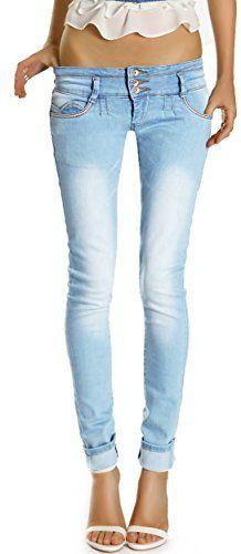 Bestyledberlin Damen Jeans Hosen, Hüftjeans - Röhrenjeans j190p 36/S