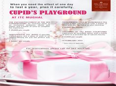Cupid's Playground at ITC Mughal...  #ValentinesDay #Agra #ITCHotels For more details visit: www.facebook.com/ITCHotels