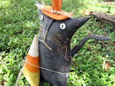 Halloween Primitive Black Cat Candy Corn Doll by WickedlyCreative, $32.00