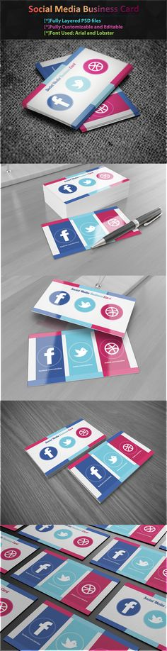 Social Media business cards. Very cool.