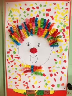 Karneval – The World Circus Crafts, Carnival Crafts, Diy And Crafts, Crafts For Kids, Arts And Crafts, Theme Carnaval, Decorating Bookshelves, Circus Theme, Christmas Activities