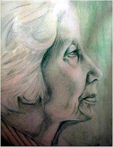 Elisabeth Eybers (16 februari 1915 – 1 december 2007) = Portret door Marni Spencer-Devlin
