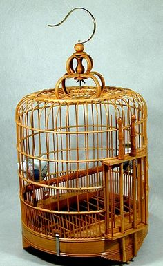 chinese bird cages   Oriental Products: Large Chinese Wooden Birdcage