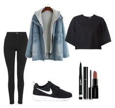 """""""Untitled #154"""" by anaidglooks on Polyvore featuring Topshop, NIKE, Rosie Assoulin, Rimmel, Chanel and Smashbox"""