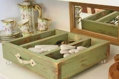 MUEBLES madera- reutilizar cajones 3 ideas.  http://c.facilisimo.com/dsk/1071069.html Imagen 0