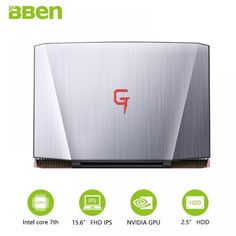 BBEN G16 laptop for gaming 15.6 inch fast running 32GBRAM+256GB SSD+2TB HDD 1920x1080 FHD wifi IPS screen i7 7700HQ notebook  Price: 2453.00 & FREE Shipping  #tech #electronics #gadgets #lifestyle