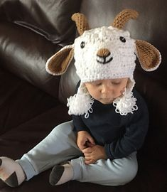 crochet goat hat pattern for sale