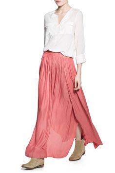 10 Skirts To Help You Forget About Pants #refinery29  Mango Slit Hem Skirt, $69.99