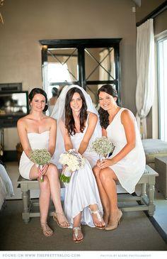 White bridesmaids dresses | Photo: Adene Photography