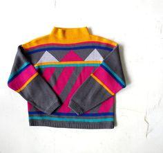1980s Mountain Geometry sweater
