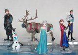 Disney Frozen Exclusive 6pcs Frozen Figures Toys Doll Anna Elsa Hans Sven Olaf Kid Play Set