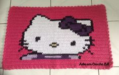 1000 images about tapete croche hello kitty rug crochet. Black Bedroom Furniture Sets. Home Design Ideas