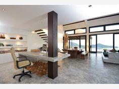 Modern Neutral Home Office Space - Home and Garden Design Ideas