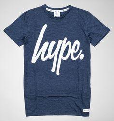 Hype Basic Logo T-Shirt Ocean Fleck