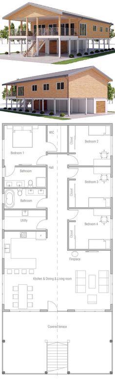 Modern Style House Plan - 3 Beds 25 Baths 1784 Sq Ft Plan #23-2236