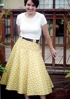 Spin Skirt Sewing Pattern. If I ever learn how to sew clothes properly I want to try some of these!