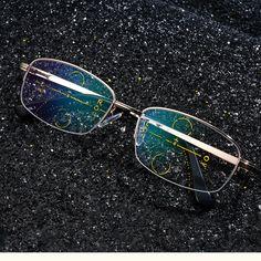 4054ed98e3 KCASA Intelligent Reading Glasses Progressive Multifocal Lens Presbyopia  Alloy Frame Anti Fatigue Highlighter Makeup