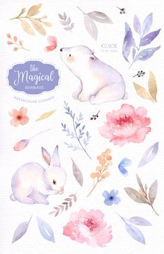 Rose Drawing Discover The Magical Moment Watercolor Clipart Bunny Clipart Polar Bear Woodland Animals Kids Clipart Wedding invitation Pastel Flower clipart Watercolor Clipart, Kids Watercolor, Watercolor Animals, Watercolor Illustration, Watercolour Painting, Watercolor Flowers, Wedding Illustration, Art Flowers, Image Transparent