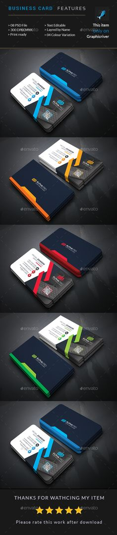 Power Business Card Template PSD. Download here: https://graphicriver.net/item/power-business-card/17382323?ref=ksioks