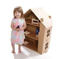 Case delle bambole fai da te di cartone - Casa di cartone formato bimba