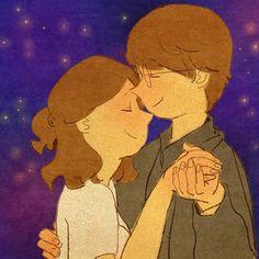 Danzar bajo un cielo estrellado, al compas de tus pasos y oliendo tu respiración me hace flotar entre las nubes.