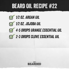 Looking for a good beard oil? We'll show you how to craft the perfect beard oil recipe from home, and show you step by step what you need to do! Diy Beard Oil, Beard Oil And Balm, Best Beard Oil, Beard Wax, Men Beard, Oil For Beard, Essential Oil For Men, Oils For Men, Clove Essential Oil