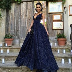 "Lilly Ghalichi on Instagram: ""Walking into @hopedworaczyk's and Roberts Wedding. Congratulations to the beautiful couple. Dress by @michaelcostello #GhalichiGlam #HopeandRobert #Italy"""