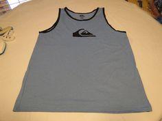 Men's Quiksilver tank top shirt XLarge XL surf NEW Mountain Wave Tee XBBK blue #Quiksilver #Tank