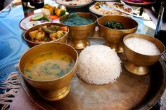 So long as you have food in your mouth, you have solved all questions for the time being. – Franz Kafka Nepali thali.