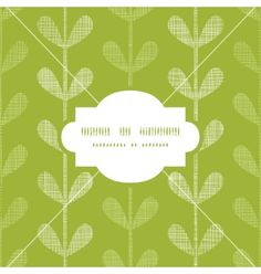 Abstract textile green vines leaves frame seamless vector