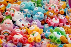 Two of my favorite things - Carebears and lots of color!