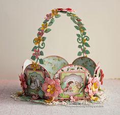 Heartfelt Creations Baby Flower Basket