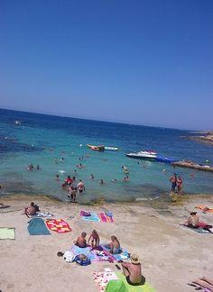 Bugibba beach in Malta