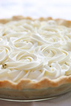 Coconut Cream Pie - Ingredients: 1 pie crust, baked (recipe follows),3 cups milk,2/3 cup granulated sugar,5 egg yolks, 4 tbsp corn starch,1 cup freshly grated oconut,(instructions follow),2 tsp pure vanilla extract,1/2 tsp.all- natural coconut extract or coconut flavoring (optional),1 tbsp butter,whipped cream (recipe follows)  See rocedure: http://www.sophistimom.com/fresh-coconut-cream-pie/