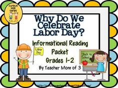 """Why Do We Celebrate Labor Day? is the newest product in my """"Curious Kids"""" series! Appropriate for ADVANCED first graders, or use as a read-aloud.  Use with on-level second graders. Also perfect to use for reading intervention for 3rd-5th graders.Learn about a simple history of Labor Day and why it is important to celebrate."""