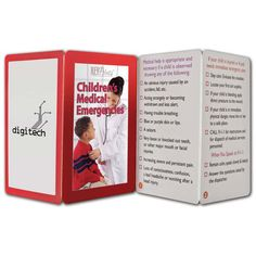 What do you do if your child is injured or sick? You can turn to this handy Key Point: Children's Medical Emergencies! Up-to-date information on danger signs, when to call 9-1-1 and home safety tips. The product features 8 panels front and back and folds to a credit card size. This fact-filled fold-up guide to interesting and informative topics can be a great handout at your upcoming events!