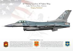 """UNITED STATES AIR FORCE56th Training Squadron, 56th Fighter Wing """"Angry Peckers""""Luke Air Force Base, Arizona"""