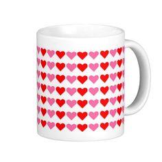 Hearts hearts hearts mug.  By blinkmedude