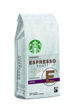 200 g hele bønner Whole Bean Espresso Roast fra Starbucks er hele bønner med en intens karamelagtig smag. Perfekt med mælkeskum eller som brygget kaffe. Bønner