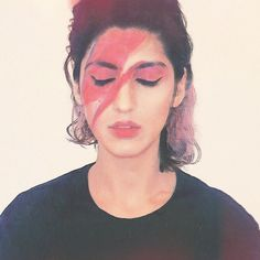 #MHPalbumcover: The goal of this months hashtag project is to make your own album cover by starting from scratch or re-creating an iconic one. Namra Saleem (@thenam) took the latter route with her ode to David Bowies Aladdin Sane. My lip liner got completely ruined by this project says Namra who plays the synth guitar and theremin in the Norway-based Level & Tyson band. But it was worth it. For more examples and inspiration head to blog.instagram.com. As always make sure to add the…